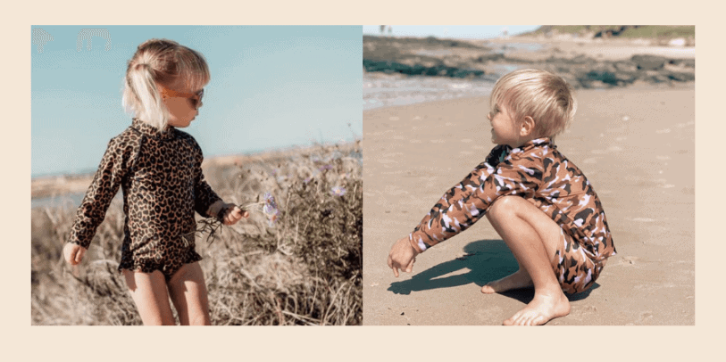 Swimwear made from recycled plastic