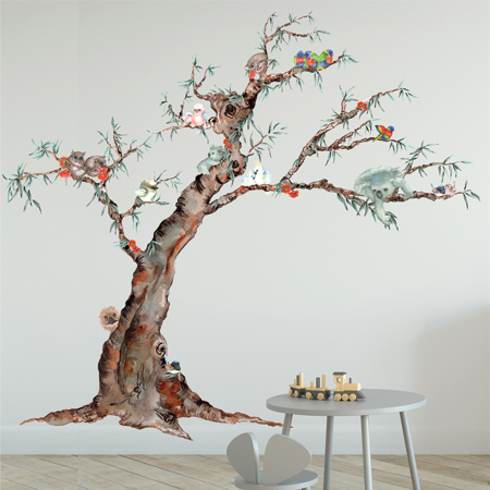 Bush Babies Downunder - fabric wall stickers decals
